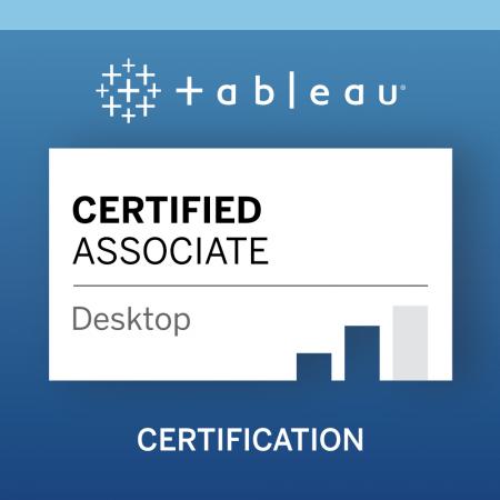 Préparation à la certification Tableau Desktop Specialist & Certified Associate